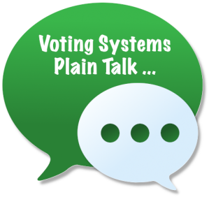 Voting Systems Plain Talk Series logo